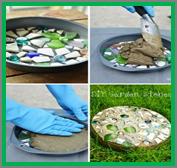 Garden Inspired DIY Stepping Stones @ Anderson Education Center
