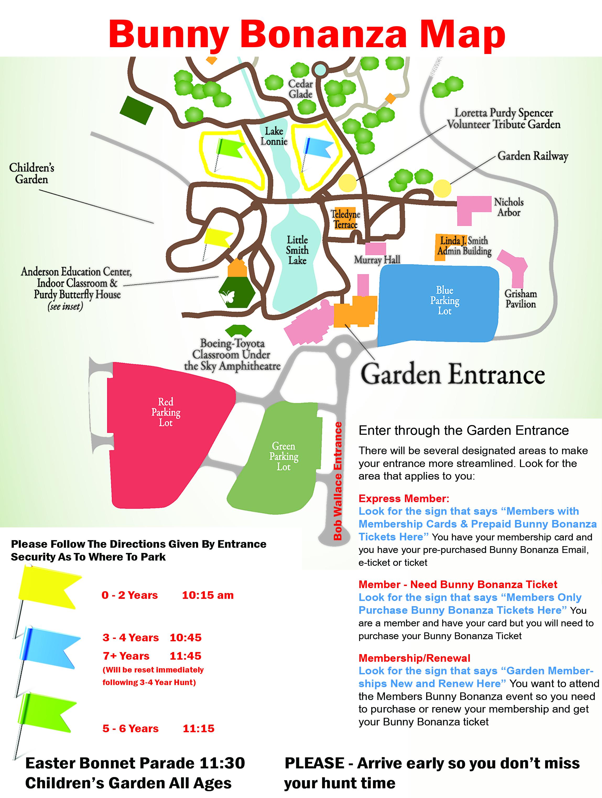 Bunny Bonanza Location map