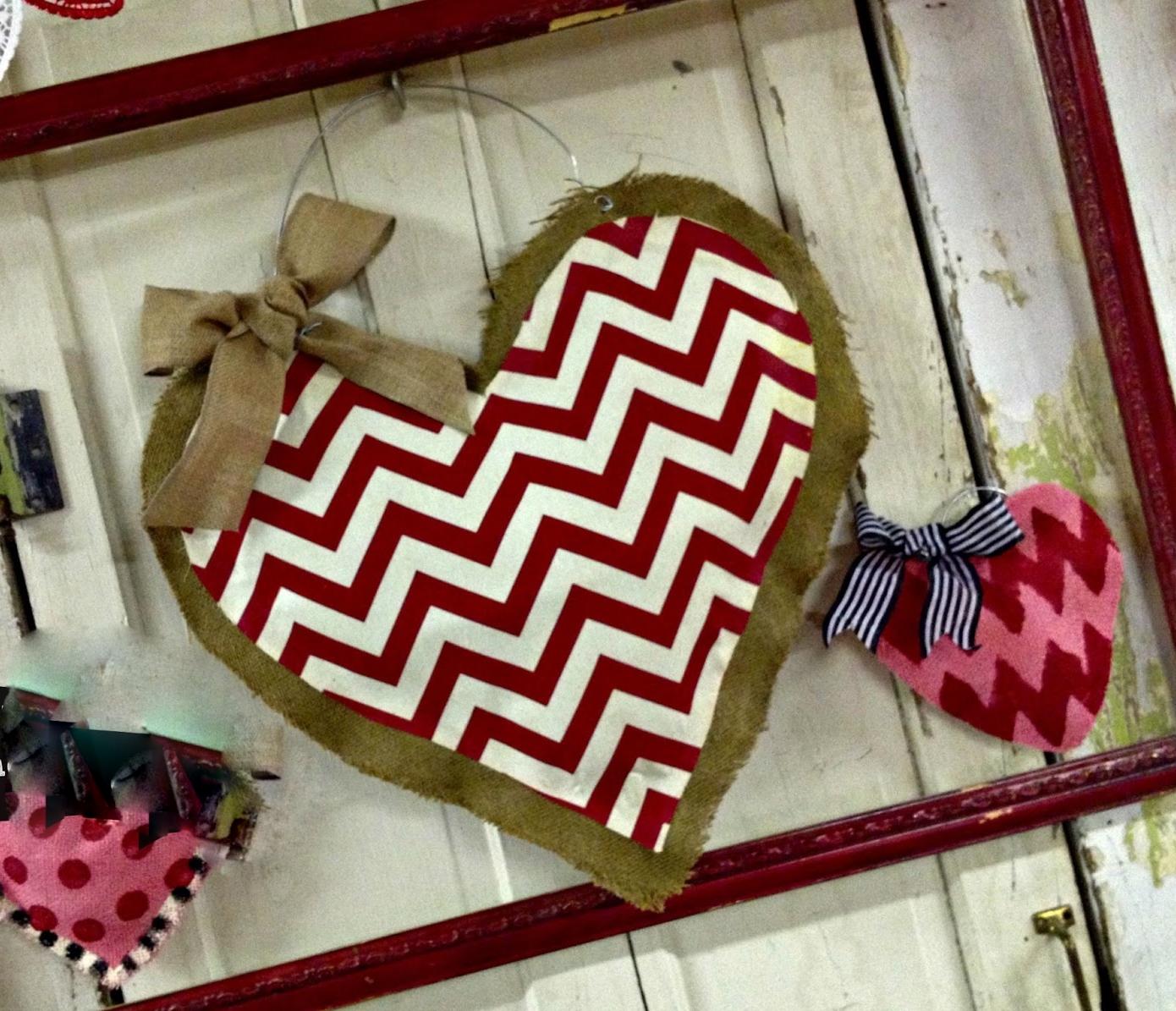 Heart Burlap Door Hanger - Girls Night Out @ Murray Hall