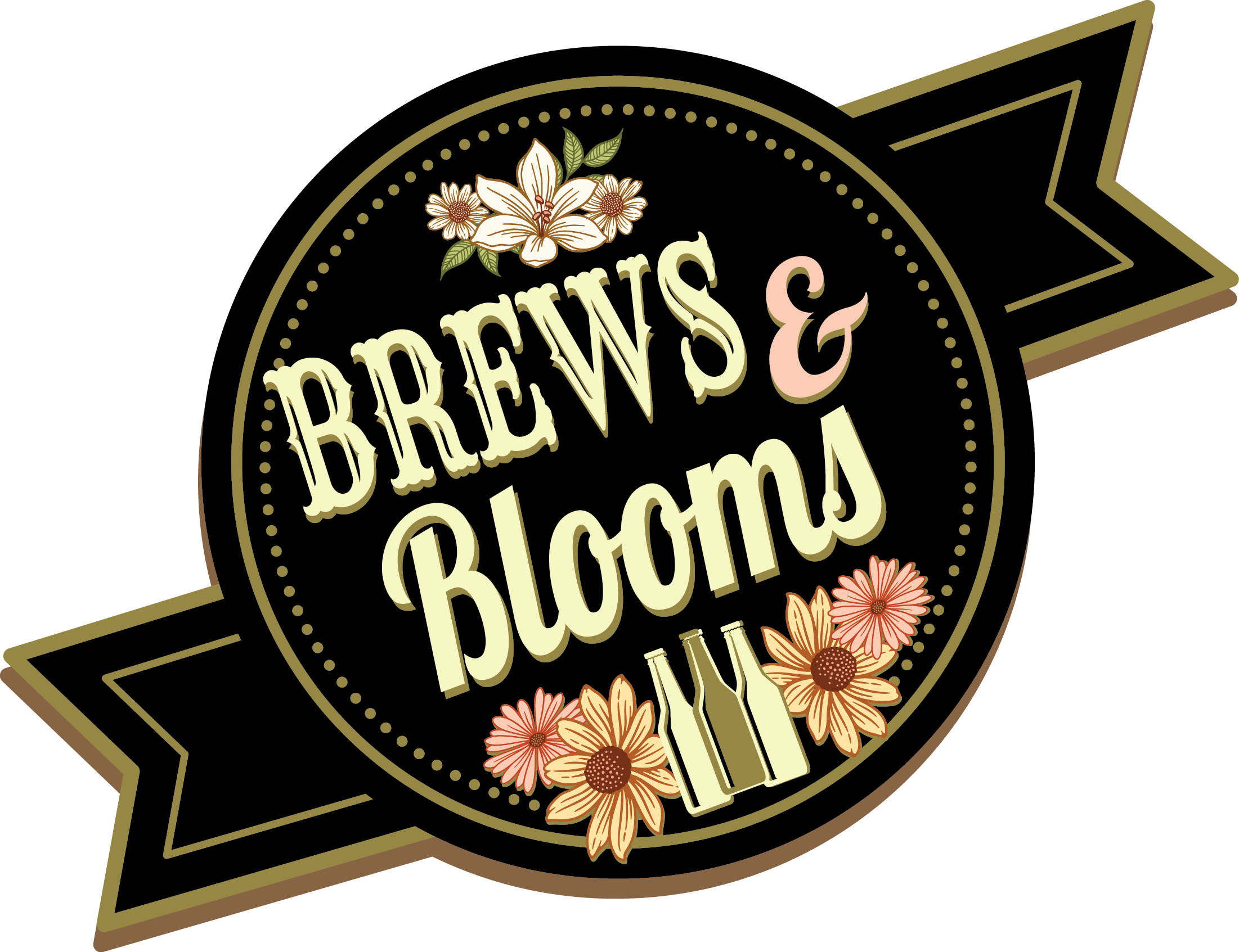 Brews and Blooms Logo