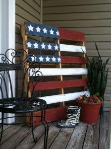 Painted Flag Pallets @ Grisham Pavilion